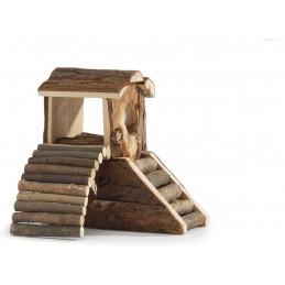BZ houten knaagdier speeltoren 17 x 11 x 15cm