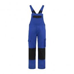 Tuinbroek katoen / polyester korenblauw / zwart