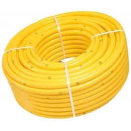 """Gele slang 1 1/4"""" getricoteerd high twist resistant 25m"""