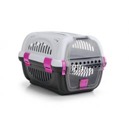 BZ reismand rhino grijs/roze 51 X 34,5 X 33 cm