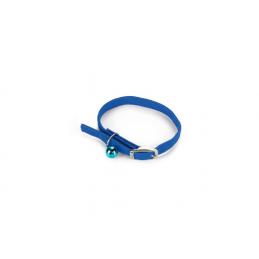 BZ Kattenhalsband met belletje blauw 10 x 30 cm