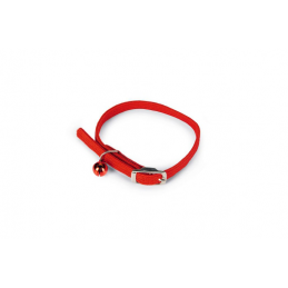 BZ Kattenhalsband met belletje rood 10 x 30 cm