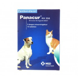 Ontworming hond/kat Panakur 250mg 10 Tabletten