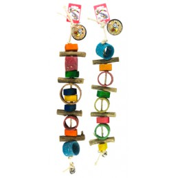 Birrdeeez papegaai speeltje gekleurde zandringen