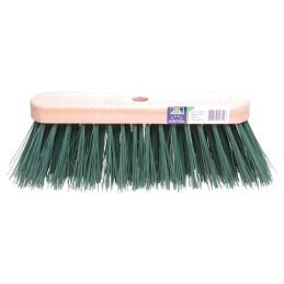Losse straatbezem FSC 29cm kunstvezel groen
