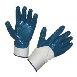 Handschoen blauw NBR met kap Keron