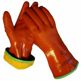 Handschoen cama-iso PVC rood