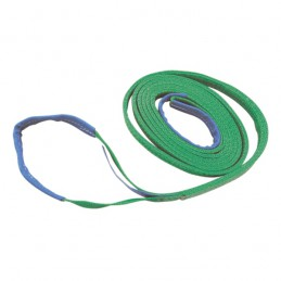 Hijsband 2-laags groen 4m/ 60mm 2 ton