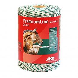 AKO schrikdraad PremiumLine wit/groen 250m