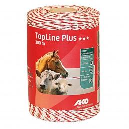 AKO TopLine Plus wit/rood schrikdraad 300m