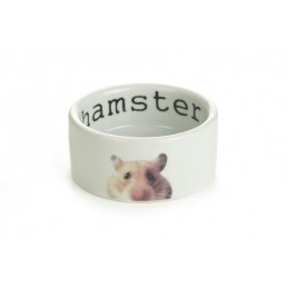 Hamster voerbak 7.5 x 4 cm keramiek