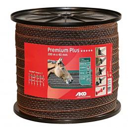 AKO Premium Plus schriklint bruin/oranje 4cm 200m