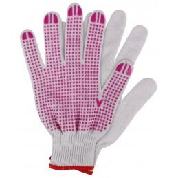 Werkhandschoenen katoen roze XL