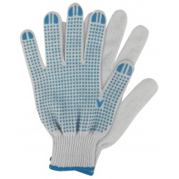 Werkhandschoenen katoen blauw XL