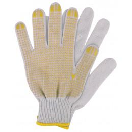 Werkhandschoenen katoen geel XL