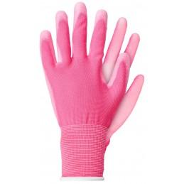 Handschoenen polyester roze XL
