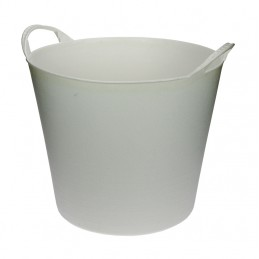 Flexibele Tuinmand 20 liter wit
