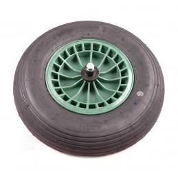 Kruiwagenwiel kunststof groen 13 cm
