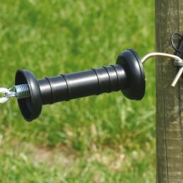 Poortgreep 3-delig eenvoudig zwart