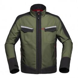 Attitude Werkjas 50172 Groen-Charcoal grijs