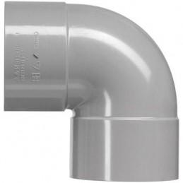 Martens PVC bocht 75mm 2xlm 90 graden grijs