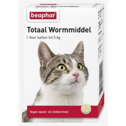 Totaal wormmiddel kat 10 tabletten