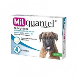 Milquantel wormtablet hond vanaf 5 kg 4 stuks