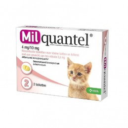 Milquantel wormtablet kleine kat / kitten 2 stuks
