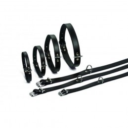 BZ Halsband Leder Zwart 37 cm X 12 mm