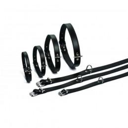 BZ Halsband Leder Zwart 42 cm X 16 mm