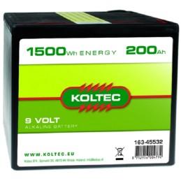 Batterij 9 Volt - 1500 Wh 200 Ah Alkaline