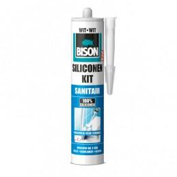 Bison sanitair siliconenkit wit 310 ml