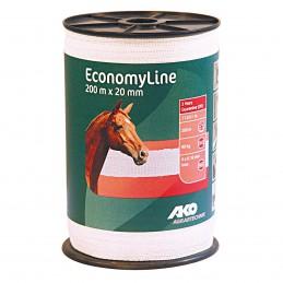 Ako EconomyLine schriklint wit 2 cm 200 meter