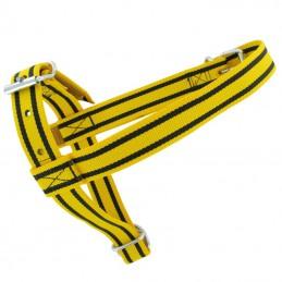 Keuringshalster geel / zwart kalf
