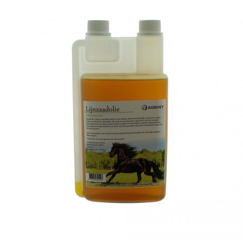 Agrivet lijnzaadolie paard 1 liter