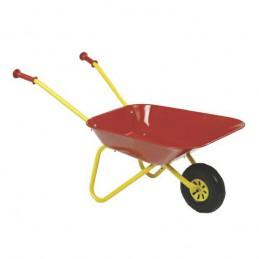 Kinderkruiwagen met metalen bak rood