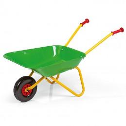 Kinderkruiwagen met metalen bak groen