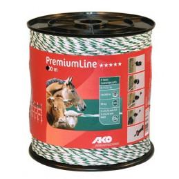 AKO PremiumLine schrikdraad wit / groen 6RVS/3koper 1000m