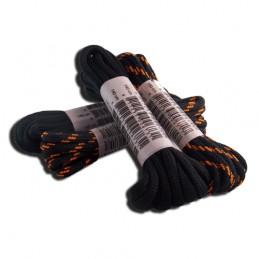 Werkschoenveter rond zwart/oranje 110cm