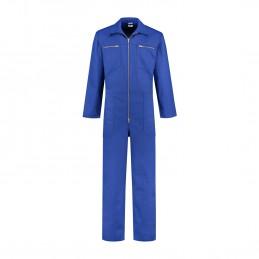 Kinderoverall polyester / katoen korenblauw