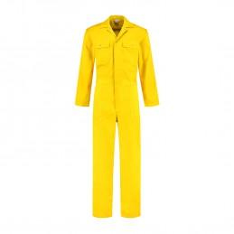Kinderoverall polyester / katoen geel