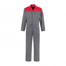 Kuipers overall katoen grijs / rood