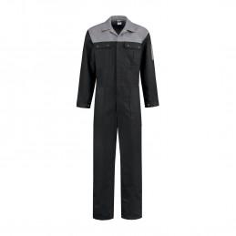 Kuipers overall katoen zwart / grijs