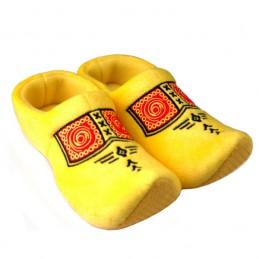 Klomppantoffel geel