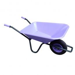 Tuinkruiwagen PP bak 90L gelakt onderstel lavendel