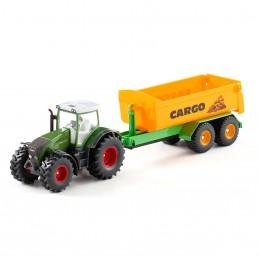 Fendt tractor met Joskin haakarm trailer